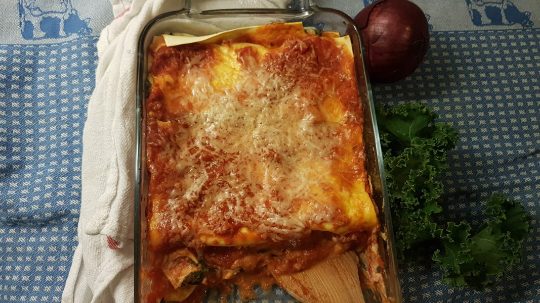 enkel vegansk lasagne
