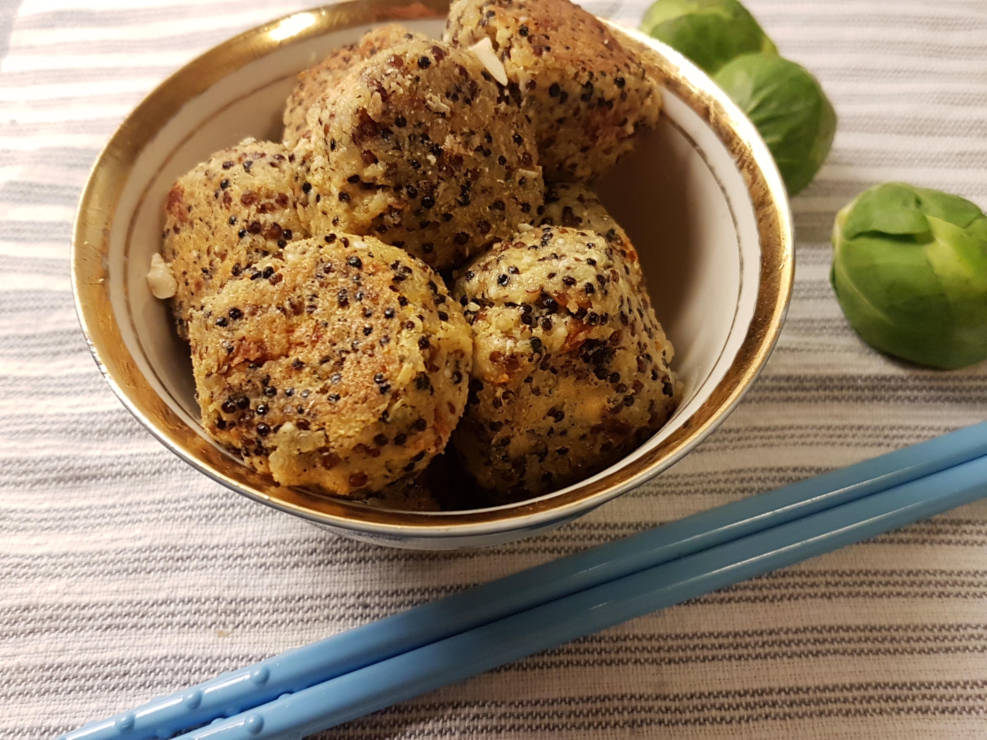 Vegetariska köttbullar med quinoa