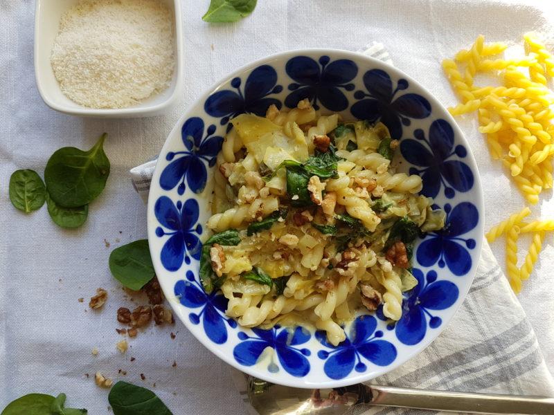 krämig vegetarisk pasta