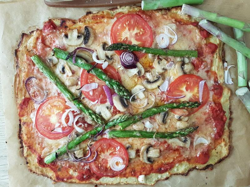 pizza med potaisbotten