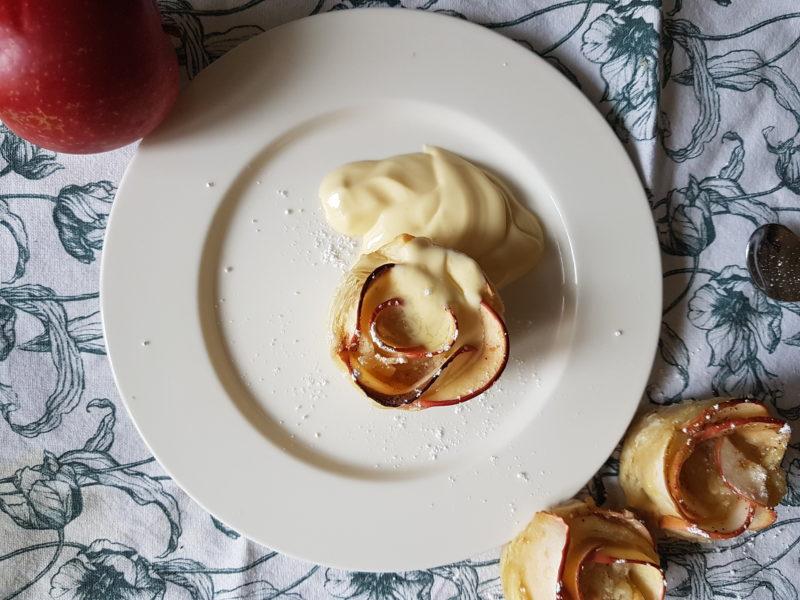 äppelrosor med mandelmassa
