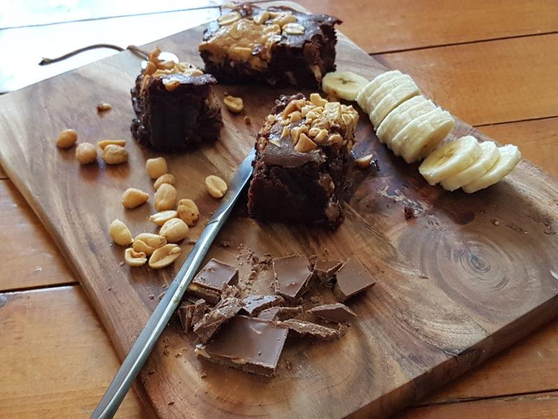 kladdiga brownies med choklad