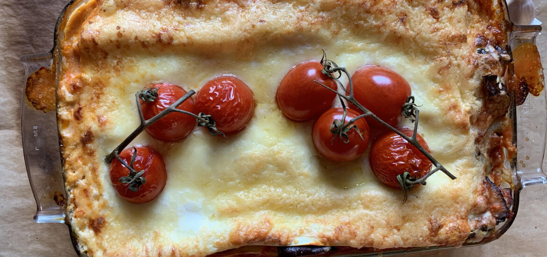 lasagne med aubergine