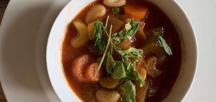snabb vegansk soppa