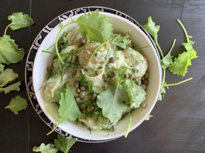 växtbaserad potatissallad