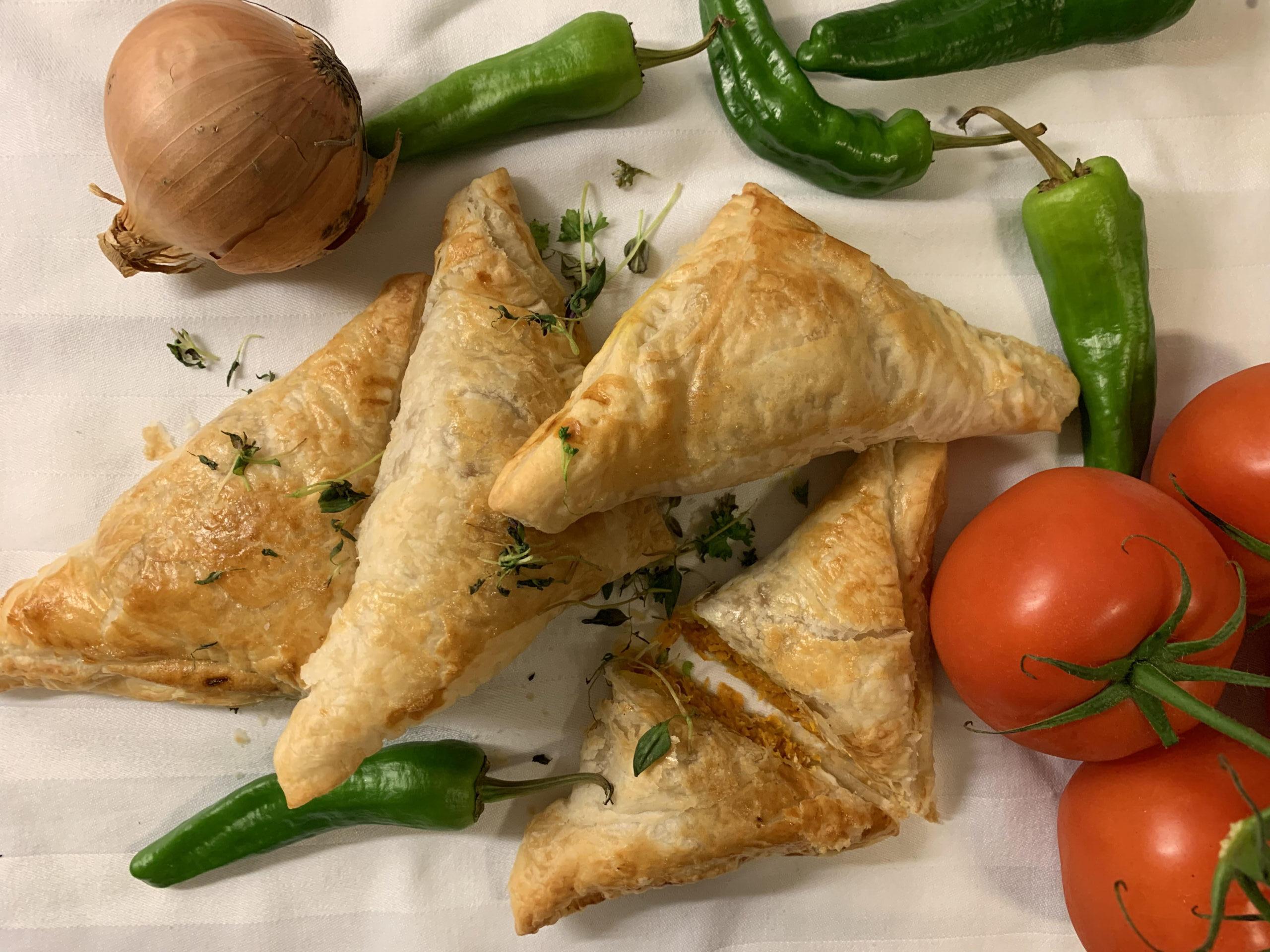 vegetariska piroger fetaost