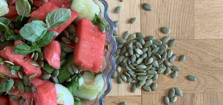 sommarsallad med melon