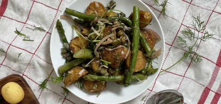 sallad vegan rostad potatis